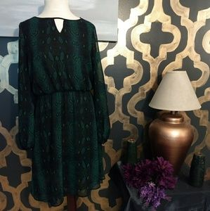 Green Snakeskin Dress